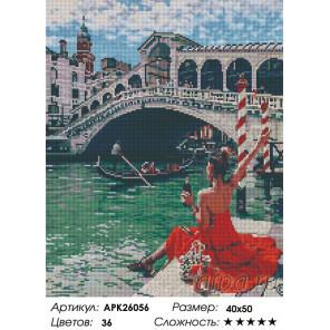 Сложность и количество цветов Отдых в Венеции Алмазная вышивка мозаика на подрамнике APK26056