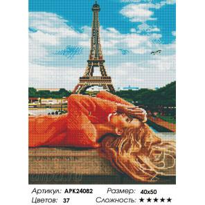 Сложность и количество цветов Под небом Парижа Алмазная вышивка мозаика на подрамнике APK24082