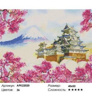Сложность и количество цветов Замок Химедзи Алмазная вышивка мозаика на подрамнике APK22020