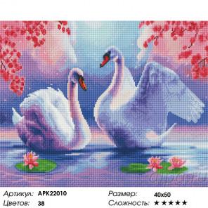 Сложность и количество цветов Лебединая верность Алмазная вышивка мозаика на подрамнике APK22010