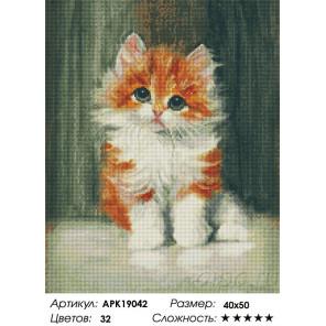Сложность и количество цветов Рыжий котенок Алмазная вышивка мозаика на подрамнике APK19042