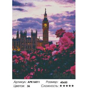 Сложность и количество цветов Биг-Бен Алмазная вышивка мозаика на подрамнике APK16011