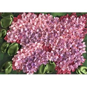Весенний мотив Набор для вышивки лентами Каролинка КЛ(Н)-4012