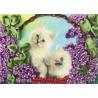 Коты в корзине Набор для вышивки лентами Каролинка КЛ(Н)-4013
