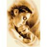 Мать и ребенок Набор для вышивки счетным крестом Каролинка КТКН 149
