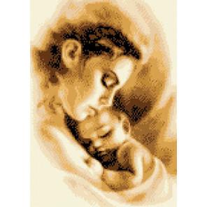 Мать и ребенок Набор для вышивки крестом по канве с напечатанным рисунком Каролинка КТКН 149 (Р)