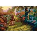 Прогулка по парку Раскраска по номерам акриловыми красками на холсте Живопись по номерам