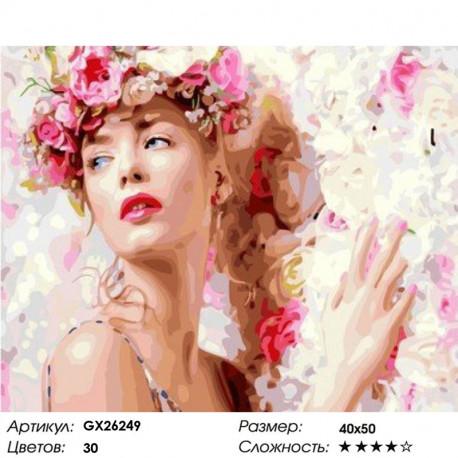 Сложность и количество цветов Весенняя нимфа Раскраска картина по номерам на холсте GX26249