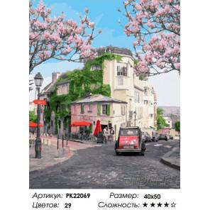 Сложность и количество цветов Отпуск в Париже Раскраска картина по номерам на холсте PK22069