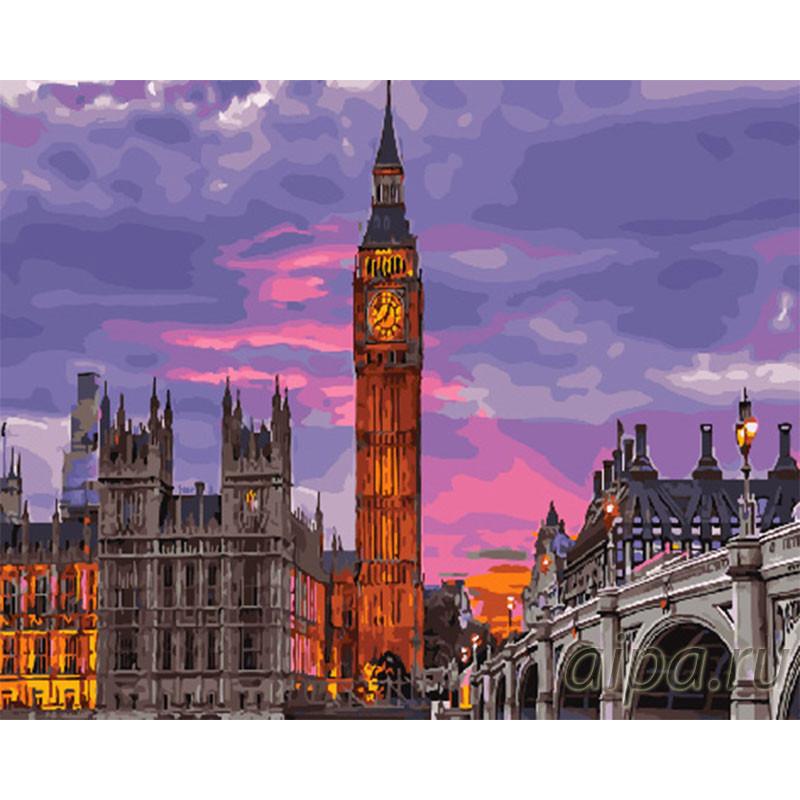 GX29764 Вечерний Лондон Раскраска картина по номерам на ...