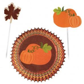 Осень Набор бумажных форм и украшений для кексов Wilton ( Вилтон )