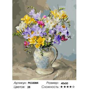 Сложность и количество цветов Очарование лета Раскраска картина по номерам на холсте PK33084