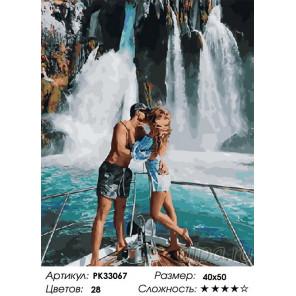 Сложность и количество цветов Водопады любви Раскраска картина по номерам на холсте PK33067