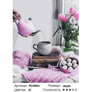 Сложность и количество цветов Стильный завтрак Раскраска картина по номерам на холсте PK33063