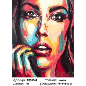 Сложность и количество цветов Озарение Раскраска картина по номерам на холсте PK33044