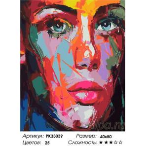 Сложность и количество цветов Абстрактные мысли Раскраска картина по номерам на холсте PK33039
