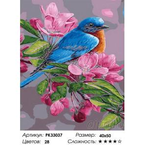 Сложность и количество цветов Цветение весны Раскраска картина по номерам на холсте PK33037