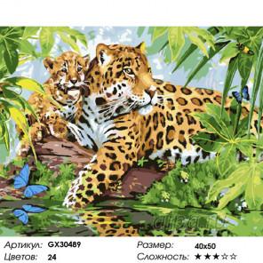 Сложность и количество цветов Грозная парочка Раскраска картина по номерам на холсте GX30489