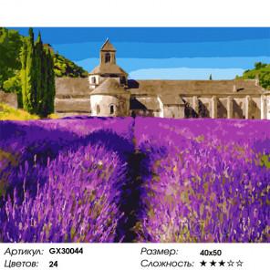 Сложность и количество цветов Аромат лаванды Раскраска картина по номерам на холсте GX30044