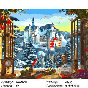 Сложность и количество цветов Прекрасный вид Раскраска картина по номерам на холсте GX30041