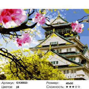 Сложность и количество цветов Азиатская весна Раскраска картина по номерам на холсте GX30023