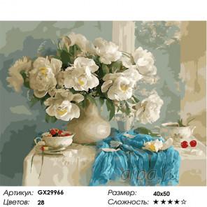 Сложность и количество цветов Белая магия Раскраска картина по номерам на холсте GX29966