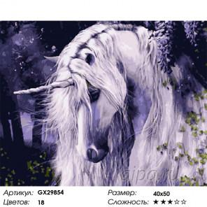 Сложность и количество цветов Сказочный гость Раскраска картина по номерам на холсте GX29854