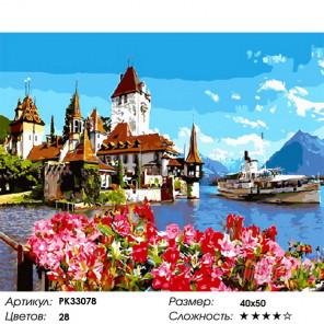 Сложность и количество цветов Альпийский залив Раскраска картина по номерам на холсте PK33078