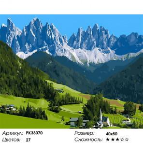 Сложность и количество цветов Альпийский рай Раскраска картина по номерам на холсте PK33070