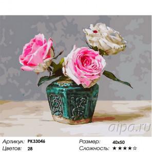 Сложность и количество цветов Малахитовая ваза Раскраска картина по номерам на холсте PK33046
