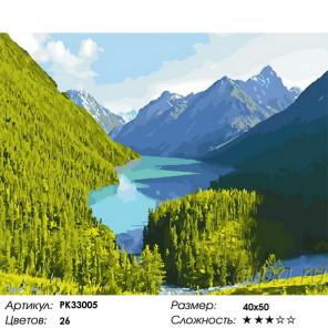 Сложность и количество цветов Горный пейзаж Раскраска картина по номерам на холсте PK33005