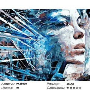 Сложность и количество цветов Абстрактный портрет 2 (О Коннор) Раскраска картина по номерам на холсте PK26030