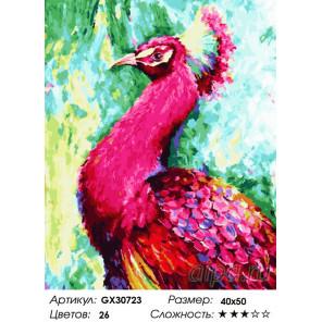 Сложность и количество цветов Павлин Раскраска картина по номерам на холсте GX30723