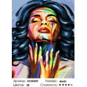 Сложность и количество цветов В порыве эмоций Раскраска картина по номерам на холсте GX30559