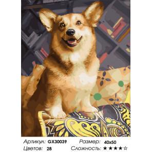 Сложность и количество цветов Верный друг Раскраска картина по номерам на холсте GX30039