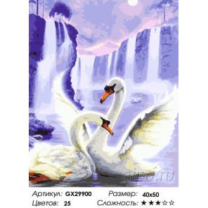 Сложность и количество цветов Танец лебедей Раскраска картина по номерам на холсте GX29900