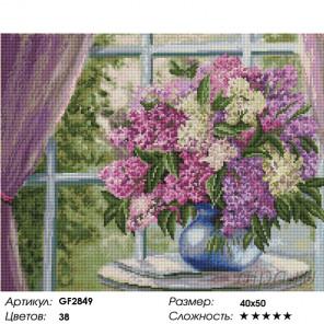 Количество цветов и сложность Сирень на окне Алмазная вышивка мозаика на подрамнике GF2849