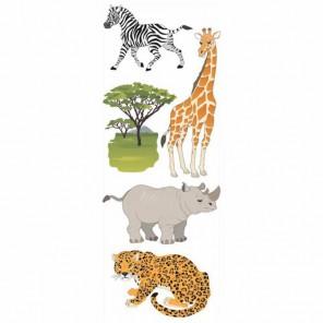Животные сафари, Джоли 3D Стикеры для скрапбукинга, кардмейкинга Ek Success