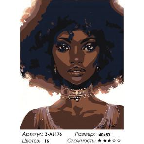Сложность и количество цветов Афроамериканка Раскраска картина по номерам на холсте Z-AB176