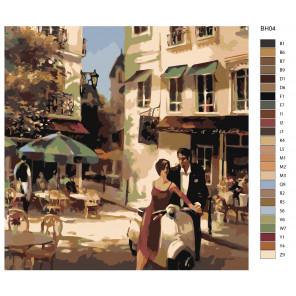 Макет Городской пейзаж Раскраска по номерам на холсте