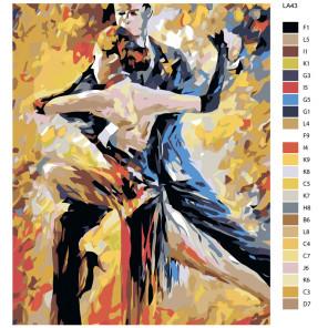 схема Танго (репродукция Леонида Афремова) Раскраска по номерам на холсте Живопись по номерам