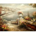На террасе Раскраска по номерам акриловыми красками на холсте Живопись по номерам