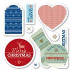 Бирки, ярлычки Christmas Набор резиновых штампов для скрапбукинга, кардмейкинга Docrafts