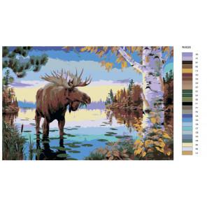 Раскладка На озере Раскраска по номерам на холсте Живопись по номерам