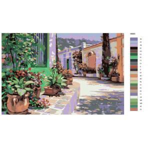 Макет Bellagio (художник Говард Беренс) Раскраска по номерам акриловыми красками на холсте Живопись по номерам