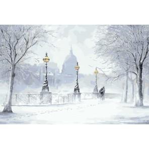 Зимний пейзаж (художник Джефф Роуланд) Раскраска по номерам акриловыми красками на холсте Живопись по номерам
