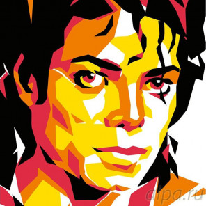 Схема Майкл Джексон Раскраска картина по номерам на холсте PA19