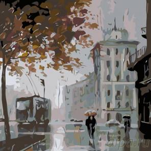 Раскладка Питерская осень Раскраска картина по номерам на холсте AB10