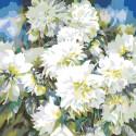 Раскладка Хризантемы Раскраска картина по номерам на холсте F17