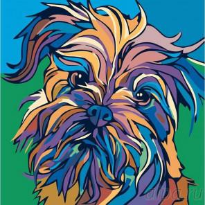 Раскладка Разноцветный йорк Раскраска картина по номерам на холсте A144